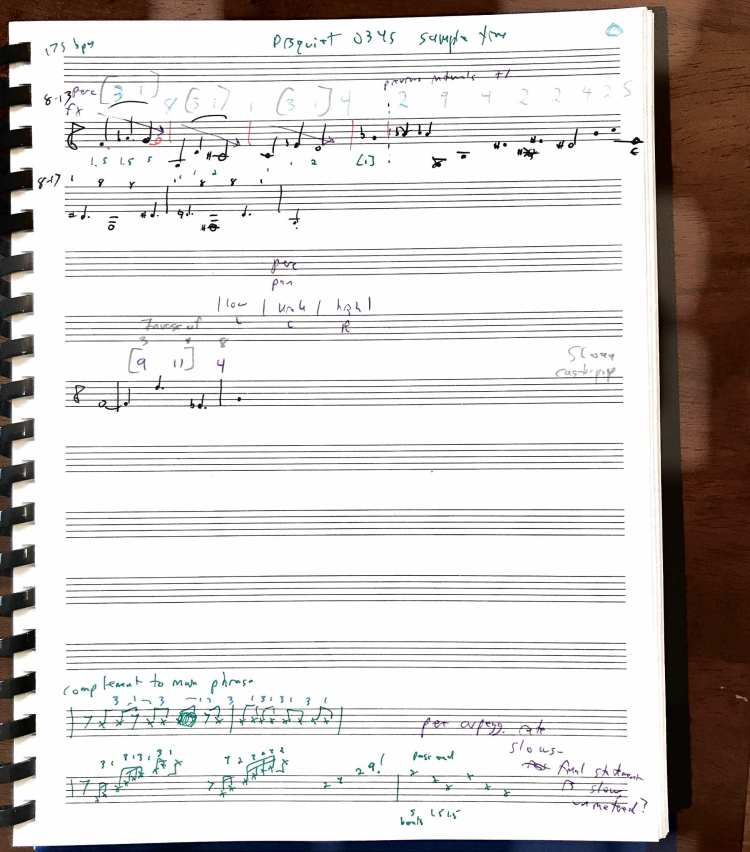 sampletime scrawled score